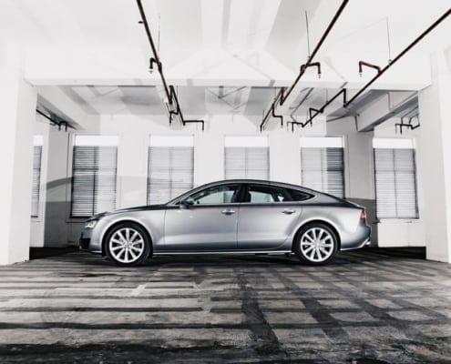 Vehicle A7 Parking Lot Audi Car Underground