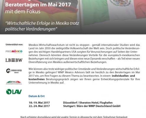 Einladung zu den Beratertagen im Mai 2017