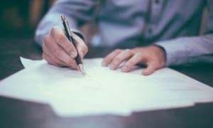Antragsstellung für ein Visum Unterschrift
