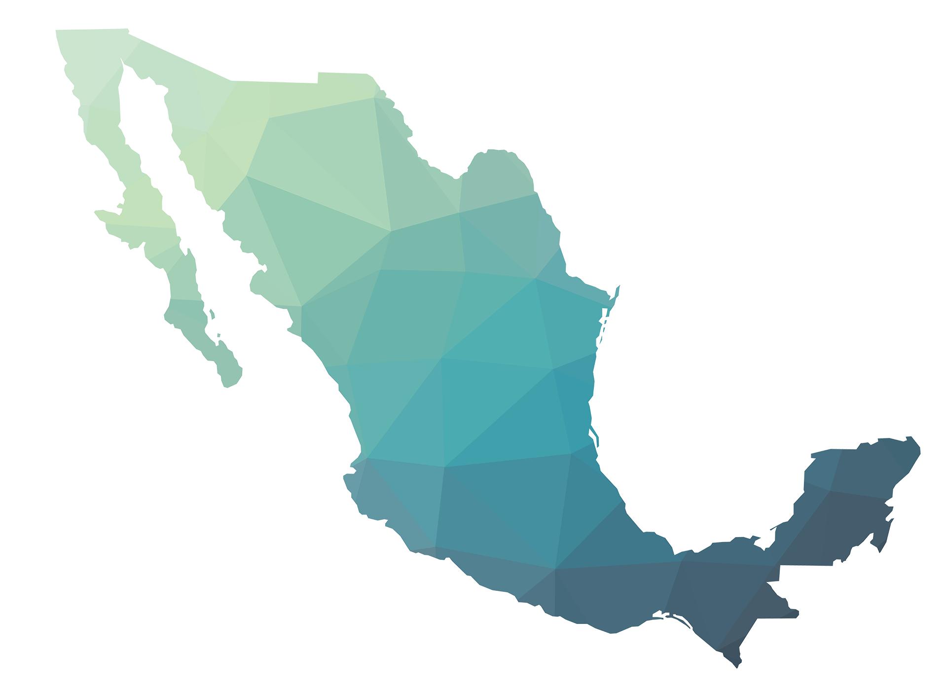 Das Land Mexico auf einer Karte